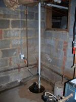 Commercial - Complete Installation of Sump Pump<br>(Including pit, pump, plumbing and electrical)