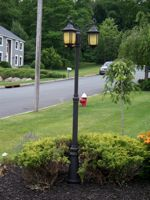 Residential - Outside Post Lamp Installation