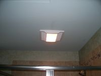 Residential - Shower Work - Light/Exhaust Fan Unit Installation (After)