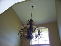 Residential - Installation of Chandelier with Motorized Lift Unit