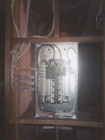 Rough Wiring of 100 Amp Sub Panel